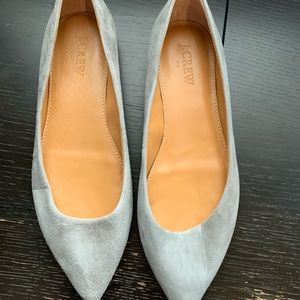 J Crew Grey Pointed Flats Size 6